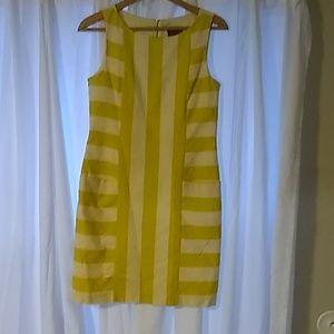 Taylor Mustard Yellow Stripped Dress
